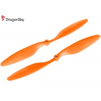 DragonSky (DS-P-1045-O) Multirotor 10*4.5 Clockwise and Counter Clockwise Propeller Set (Orange)