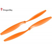DragonSky (DS-P-1245-O) Multirotor 12*4.5 Clockwise and Counter Clockwise Propeller Set (Orange)