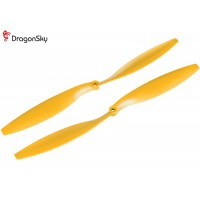 DragonSky (DS-P-1245-Y) Multirotor 12*4.5 Clockwise and Counter Clockwise Propeller Set (Yellow)