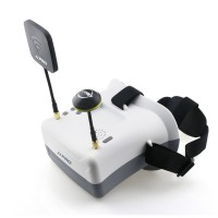 JJPRO F02 HD FPV Goggles - Race band 40CH dual antennas 5.8GHz Auto Searching for racing drone