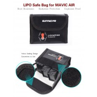 DJI Mavic Air Lipo Safety Bag (Total accommodate 3 batteries) - Safe Guard Bag Protective Cover Explosion-proof Material