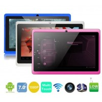 Tablet A33 Quad Core 7 inch WIFI Dual Cameras Google Android 4.4.2 HD 1024x600 512MB 1GB 8GB 16GB