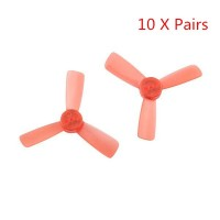 20PCS (10 Pairs) Kingkong 1935 48.26mm 1.5mm Mounting Hole 3-Blade Bullnose Propellers for 90GT 95GT Drone 1103 1105 motor