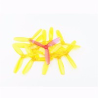 20PCS (10 Pairs) Kingkong 5045 5x4.5x3 3-Blade Clear Single Color Props Tri-Props Propellers for FPV racing
