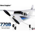 Nine Eagles (NE-R/C-770B) 3CH Sky Eagle Mini Airplane RTF (Blue) - 2.4GHz