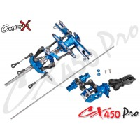 CopterX (CX450PRO-01-00B) Metal Main Rotor Head Set & Metal Tail Rotor Set
