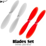 HUBSAN (HS-H107D-A06) Blades Set (White and Red)