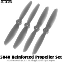 ATG (ATG-5040-P-GY) 5040 Reinforced Propeller Set with Balance Injection Molding for Mini Quadcopter (2CW+2CCW, Plastic, Grey)