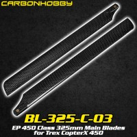CarbonHobby (BL-325-C-03) EP 450 Class 325mm Main Blades for Trex CopterX 450
