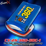 CopterX (CX-2S-360-50C-1) 7.4V 50C 360mAh Li-Polymer Battery for E-flite Blade 130 X