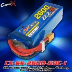 CopterX (CX-6S-2600-50C-1) 22.2V 50C 2600mAh Li-Polymer Battery for ALIGN T-REX 500