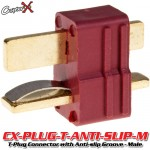 CopterX (CX-PLUG-T-ANTI-SLIP-M) T-Plug Deans Style Connector with Anti-slip Groove - Male