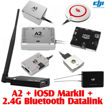 DJI (DJI-A2-IOSD-MARKII-24GBTDL) A2 Flight Controller for Multi-rotor with iOSD Mark II FPV Autopilot On Screen Display System and 2.4G Bluetooth Datalink