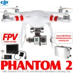 DJI Phantom 2 2.4G with Zenmuse H3-3D, FPV Solution Package and Wheeled Aluminium Carrying Case