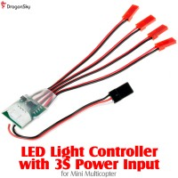 DragonSky (DS-LED-MC-3S) LED Light Controller with 3S Power Input for Mini Multicopter