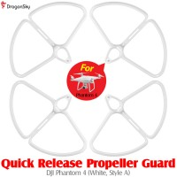 DragonSky (DS-P4-PG-QR-W-A) Quick Release Propeller Guard for DJI Phantom 4 (White, Style A)