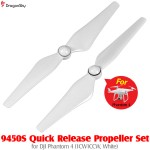 DragonSky (DS-P4-PROP-QR-W) 9450S Quick Release Propeller Set for DJI Phantom 4 (1CW1CCW, White)