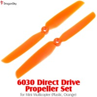 DragonSky 6030 Direct Drive Propeller Set for Mini Multicopter (Plastic, Orange)