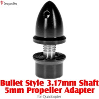 DragonSky (DS-PROP-B-3.17-5MM-BK) Bullet Style 3.17mm Shaft 5mm Propeller Adapter for Quadcopter (Black)