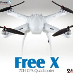 Free X 7CH GPS Quadcopter RTF (White, Mode 2) - 2.4GHz