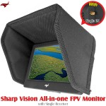 HAWK-EYE Aerial Video Technology (HEAVT-SV-5.8G-01) Sharp Vision All-in-one FPV Monitor with Single Receiver