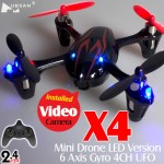 Hubsan (HS-H107C-BR-M1) X4 LED 4CH Video Mini Quadcopter RTF