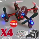 Hubsan H107C X4 Video Quadcopter Value Pack (Red Silver, Mode1)