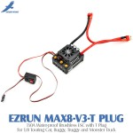 Hobbywing EZRUN MAX8-V3-T PLUG 150A Water-proof Brushless ESC with T Plug for 1/8 Touring Car, Buggy, Truggy and Monster Truck
