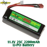 MG Power (MG-111-25-2200) 11.1V 25C 2200mAh Li-PO Battery