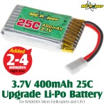 MG Power (MG-37-25-400) 3.7V 400mAh 25C Upgrade Li-Polymer Battery for WALKERA Micro Helicopters and UFO