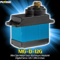 Fusonic (MG-D-12G) Mini Size Metal Gear Aluminum Heatsink Digital Servo 12G 1.5KG 0.12sec