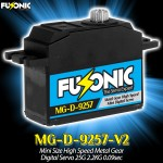 Fusonic (MG-D-9257-V2) Mini Size High Speed Metal Gear Digital Servo 25G 2.2KG 0.09sec