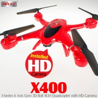 MJX RC X400 4CH Quadcopter with HD Camera (Red)