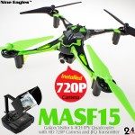 Nine Eagles Galaxy Visitor 6 4CH FPV Quadcopter (Green, Mode 1)