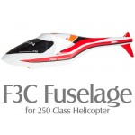 F3C Fuselage for 250 Class Helicopter (Red)