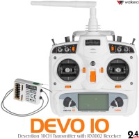 WALKERA DEVO 10 Transmitter with RX1002 Receiver (White)