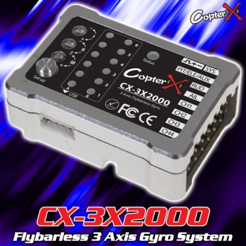 CopterX (CX-3X2000) Flybarless 3 Axis Gyro SystemFlybarless / Multi-blades