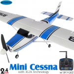 Skyartec (MNCE3X-01-B) Mini Cessna N9128 EPO 3G3X Flight-Stabilization System 3CH Brushless Airplane ARTF (Blue) - 2.4GHz