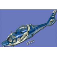 Walkera (HM-53QD-Z-05B) Fuselage Set Blue(With Light)