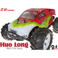 ZD Racing (ZD-16422-R) Huo Long 4WD 1/16 Scale Brushless Electric Truck (Red) RTR - 2.4GHz
